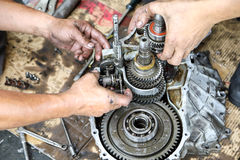 Car Gear Box Repair Royalty Free Stock Photos