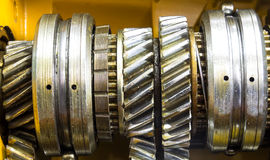 Car gear box sprocket. Car gear box sprocket close up wiev Royalty Free Stock Photo