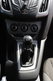 Car gear lever. A manual shift car gear lever Royalty Free Stock Photography