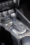 Car gear lever. A auto shift car gear lever Royalty Free Stock Image