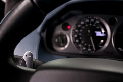 Car gear lever. Royalty Free Stock Image