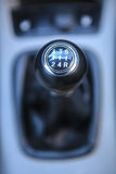 Car gear lever. Shift manual transmission car gear lever stock image