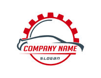 Car and gear logo Royalty Free Stock Photo