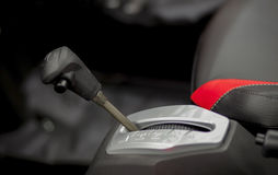 Car gear shift- closeup interior Stock Image