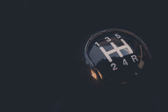 Car gear shifter Royalty Free Stock Images