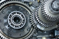 Car gearbox. Shallow depth of field with the background parts in focus stock photo