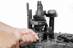 Car gearbox Royalty Free Stock Image
