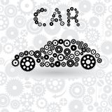 Car from gears Royalty Free Stock Photography