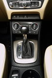 Car gearstick. In car interior Royalty Free Stock Images