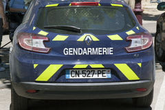 Car of the Gendarmerie Nationale Royalty Free Stock Photos