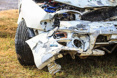 Car get damaged by accident. Close up body of car get damaged by accident Royalty Free Stock Image