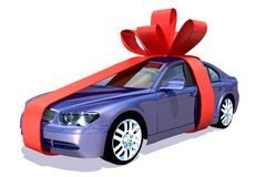 Car in gift. Scene of the car in gift , It Is Executed in 3 D Royalty Free Stock Photo