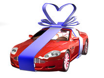 Car in gift Stock Photo