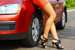 Car&girl Royalty Free Stock Photos