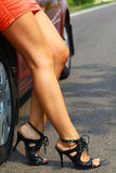 Car&girl Royalty Free Stock Photo