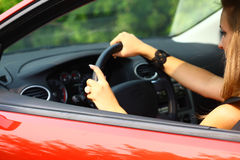 Car and girl Stock Photography
