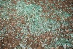Car glass brocken on the floor Royalty Free Stock Photography