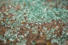 Car glass brocken on the floor Stock Photo