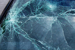 Car glass broken Stock Image