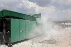 Car glass recycling plant Royalty Free Stock Photo
