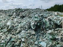 Car glass recycling Royalty Free Stock Image