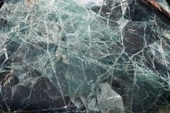 Car glass recycling plant Royalty Free Stock Photos