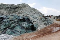 Car glass recycling plant Stock Photography