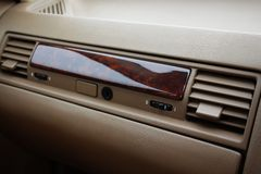 Car glove box (compartment) with air deflectors Stock Photo