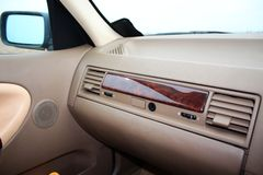 Car glove box (compartment) with air deflectors Stock Images