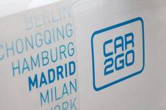 Car2Go logo on Car2Go car stock images
