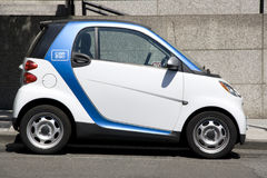 Car2go small electric rental car Stock Photo