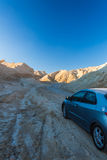 Car goes desert of the Negev Royalty Free Stock Photos