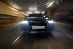 Car goes in tunnel Royalty Free Stock Photography