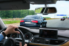 Car going on highway. Kind from the car going on highway Royalty Free Stock Photo