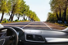 car going on road Stock Image