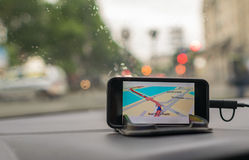 In Car Gps Navigation System Royalty Free Stock Photos