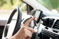 Car GPS navigation system Stock Photos