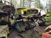 Car graveyard royalty free stock images