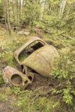 Car Graveyard in Sweden Stock Photos
