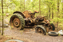 Car Graveyard in Sweden Royalty Free Stock Photo