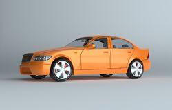 Car on gray studio background Royalty Free Stock Images