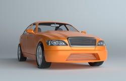 Car on gray studio background Royalty Free Stock Photo