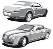Car_grayscale luxuoso ilustração stock