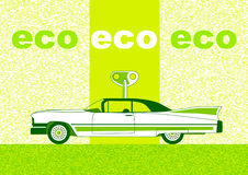Car on green background Royalty Free Stock Photos