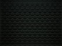 Car grille background or texture. Wavy Pattern, Metallic black Aluminium Material and Reflections. 3d rendering, 3d illustration Royalty Free Stock Photo