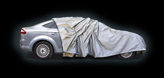 Car half covered Royalty Free Stock Photography