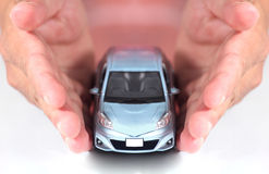Car in hand Royalty Free Stock Photo