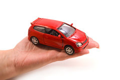 Car in hand Stock Photo