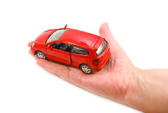 Car in hand Royalty Free Stock Images