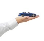 Car on hand Royalty Free Stock Photos